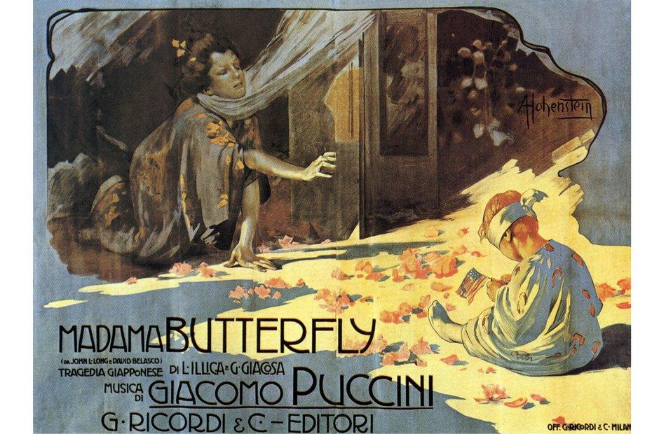 Vintage opera poster Alamy