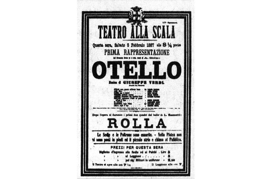 Vintage opera poster Otello