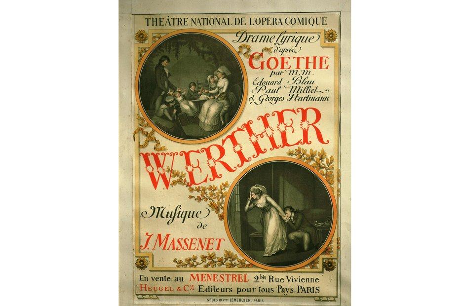 Vintage opera poster Werther