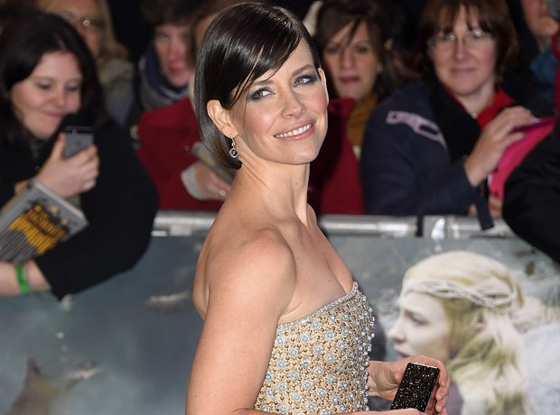 Evangeline Lilly at The Hobbit world premiere
