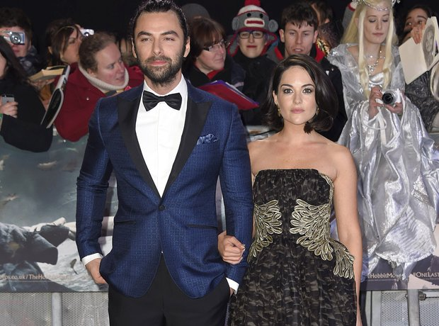 Aidan Turner Sarah Greene Hobbit world premiere