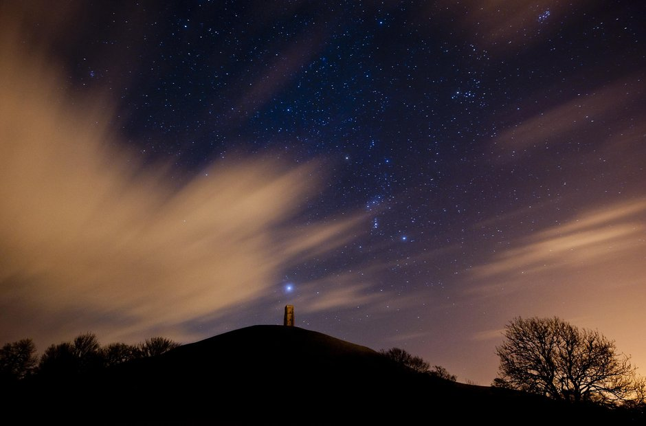 Glastonbury Tor morning star Sirius dog Hyades