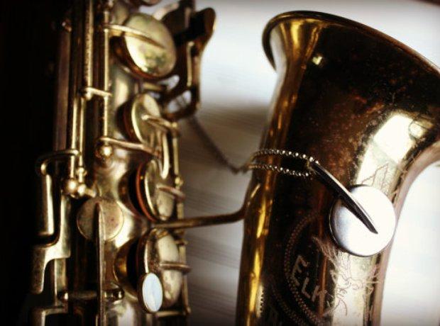 Saxophone key necklace