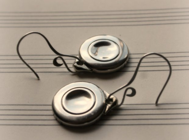Flute Key Earrings