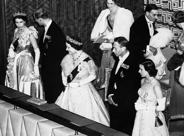 Queen King George VI Elizabeth Duke Edinburgh
