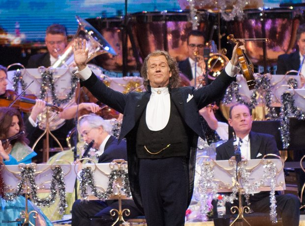 Andre Rieu performs on stage at SSE Arena Wembley.