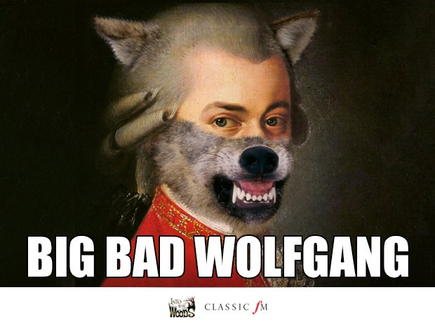 Big Bad Wolf and Mozart splice