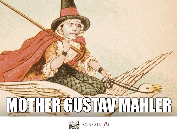 Mother Goose and Gustav Mahler splice
