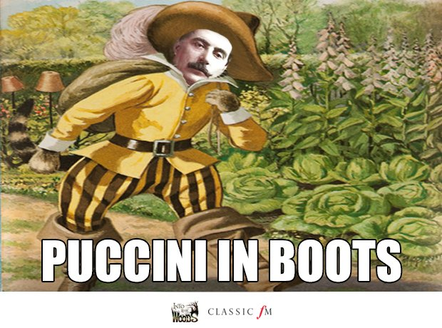 Puss in Boots and Puccini splice
