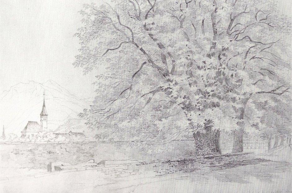 Trees at Interlaken Felix Mendelssohn