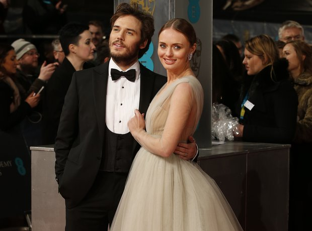 Sam Claflin and Laura Haddock, Bafta awards 2015
