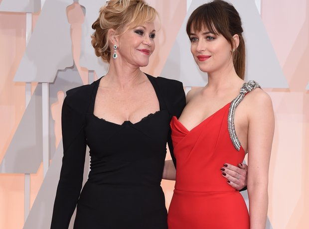 Dakota Johnson and mother Melanie Griffith