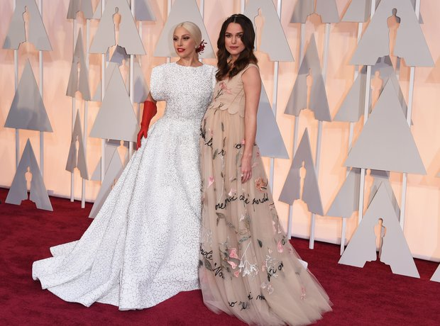 Keira Knightley and Lady Gaga