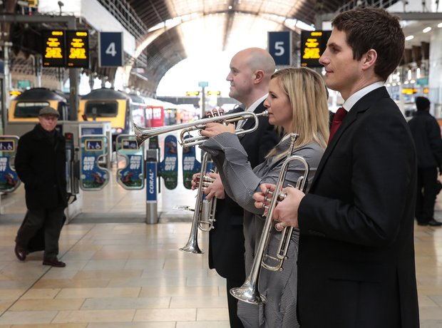 Alison Balsom at Paddington Station
