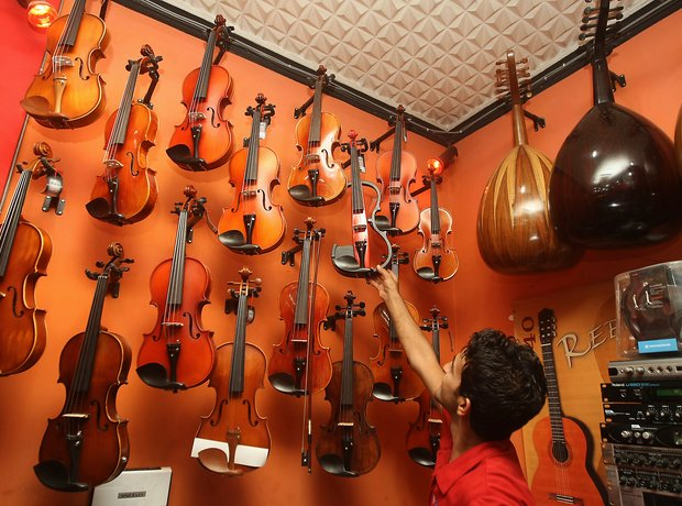 Music shop in Baghdad