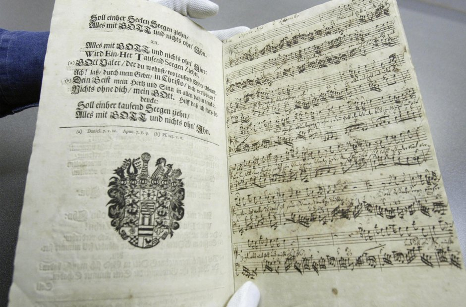 Beautiful manuscripts JS Bach