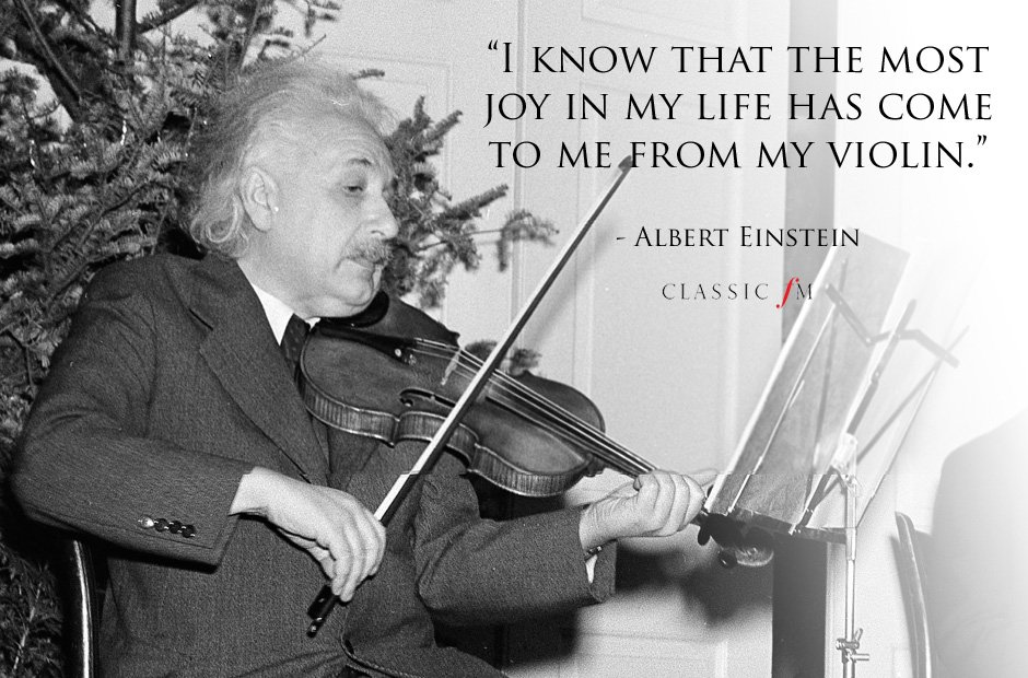 albert einstein violin quote