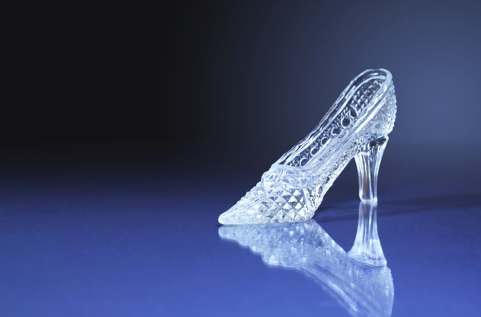 glass slipper cinderella