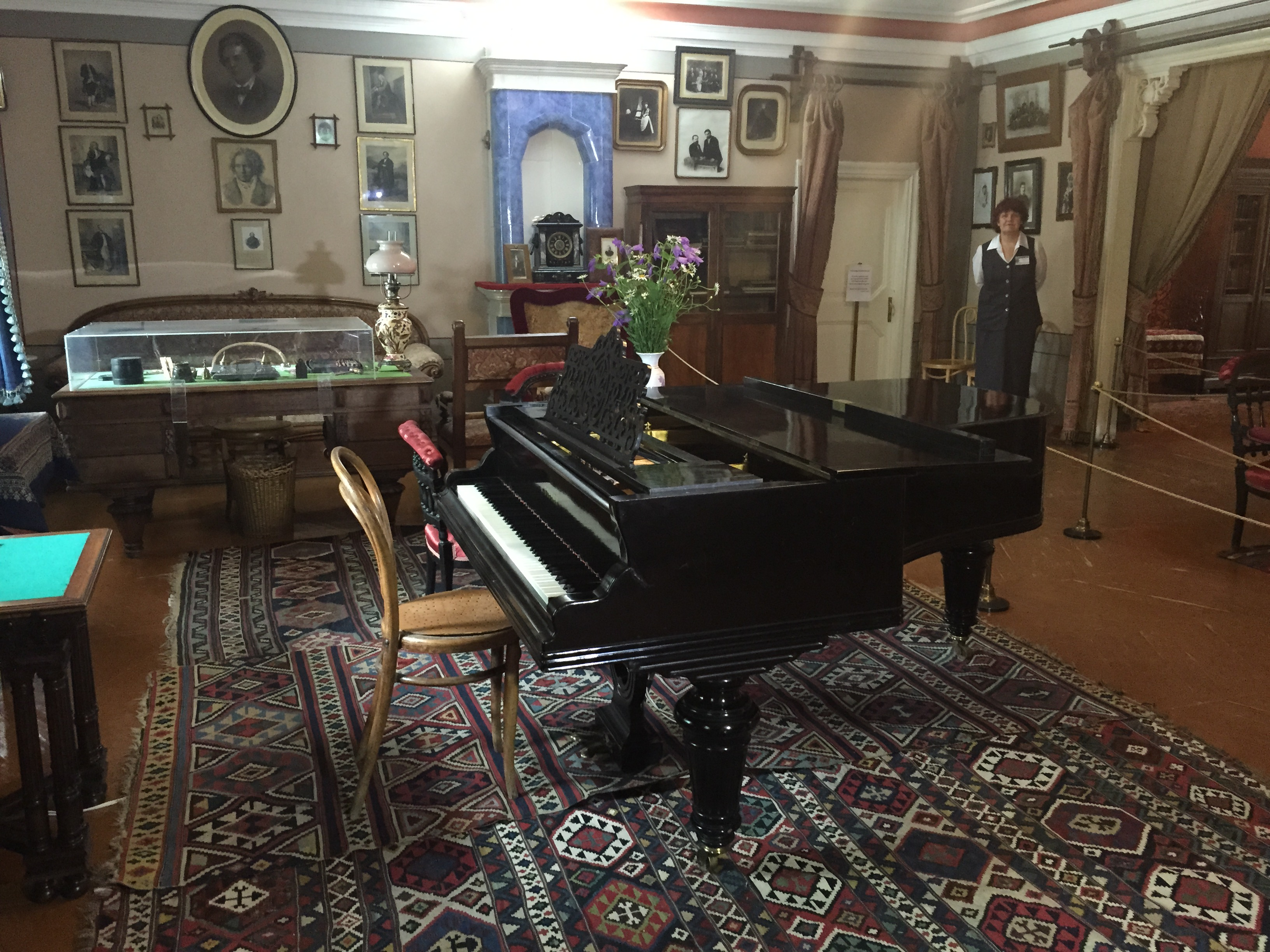 We took a tour round Tchaikovsky's house and heard a world-famous