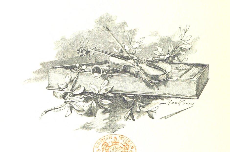British Library images violin illustration