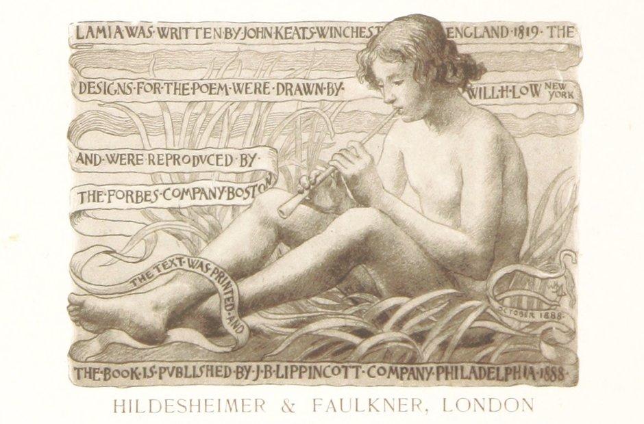 British Library archive John Keats Lamia Will Low