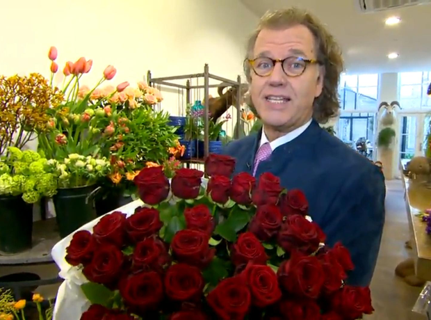 André Rieu roses Valentine's Day