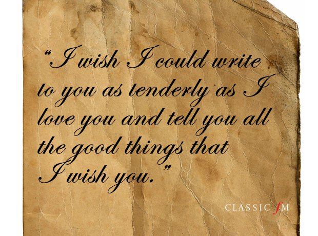 heart breaking quotations from the great composers love letters classic fm