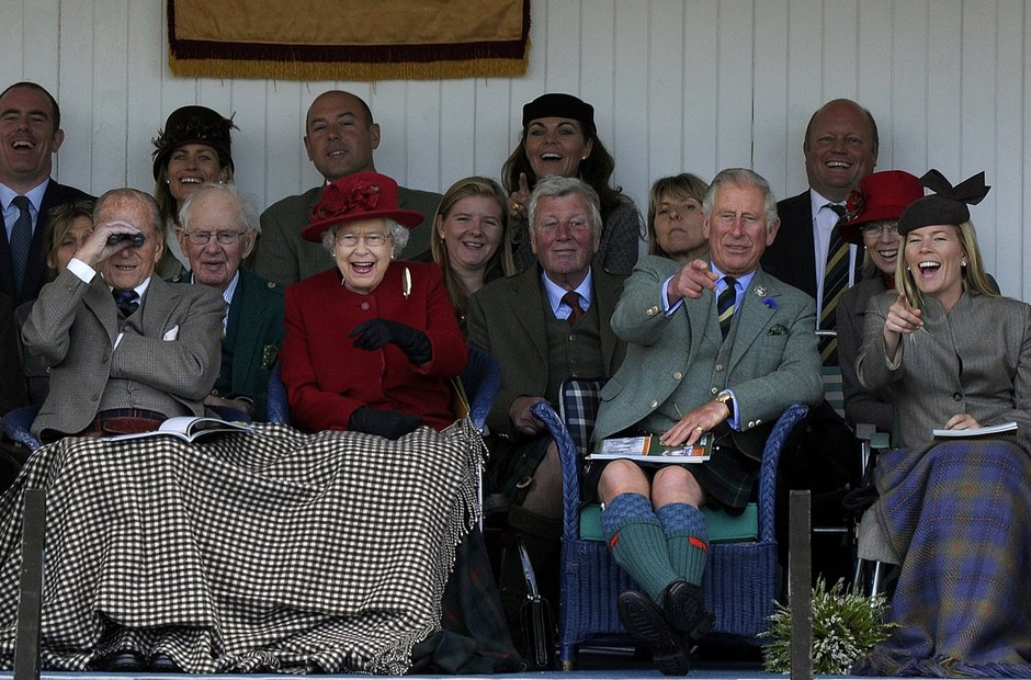2015 Braemar Gathering Queen Prince Philip Charles
