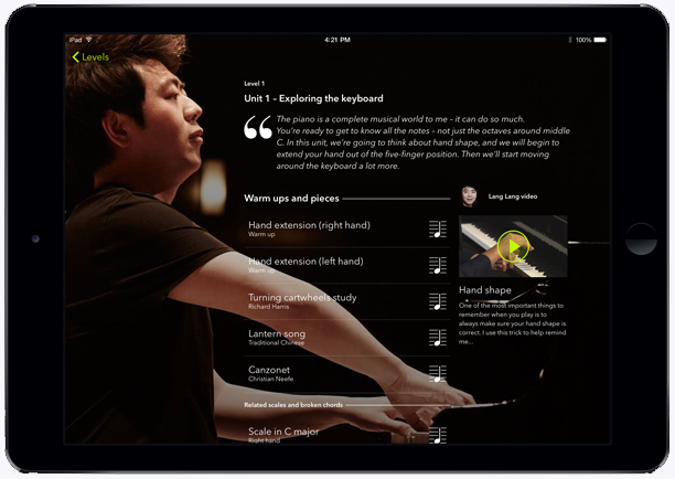 Mastering the piano with Lang Lang app