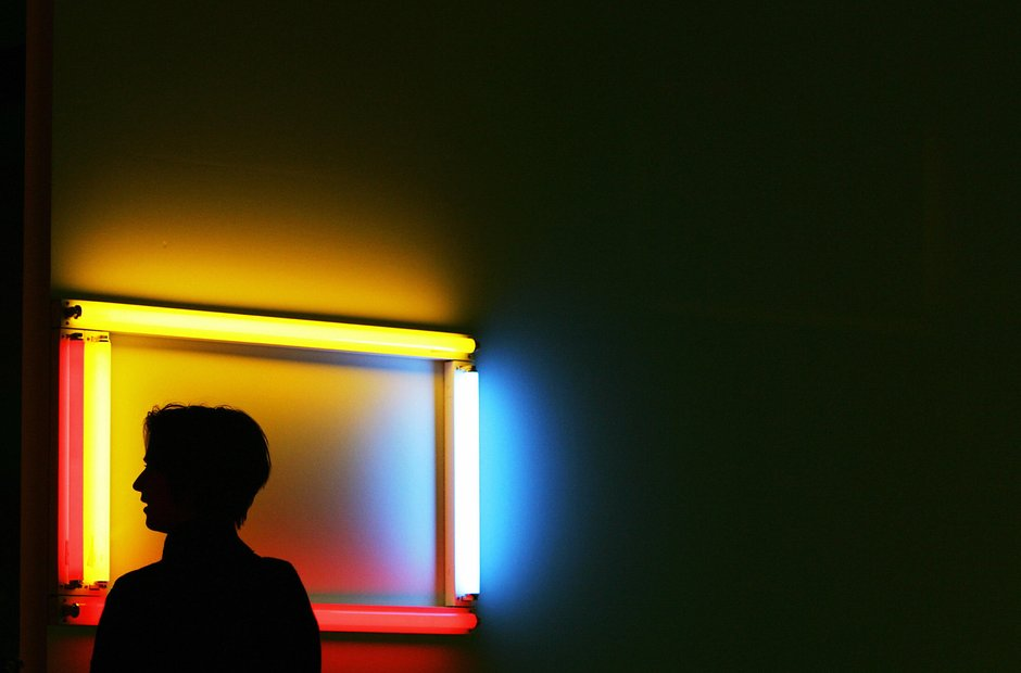 Southbank Centre Dan Flavin flourescent art