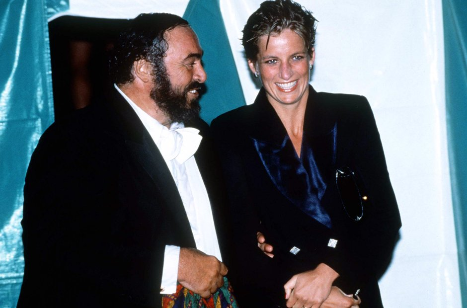 Princess Diana and Pavarotti