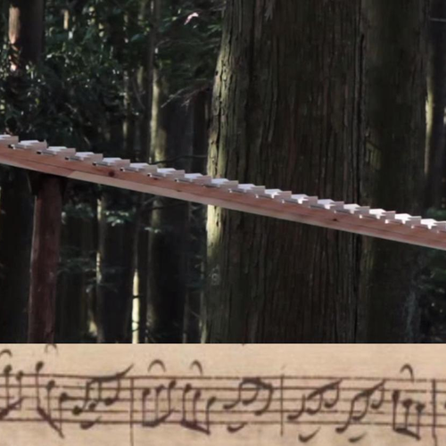 This handmade xylophone plays Bach in the middle of a serene