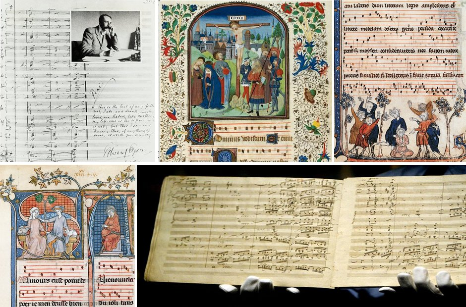 Beautiful musical manuscripts