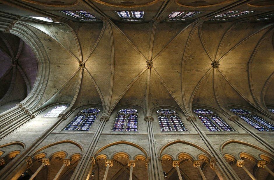 Ceiling Of Notre Dame Paris