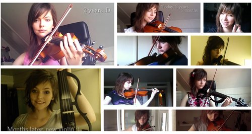 This beginner violinist recorded every step of her progress