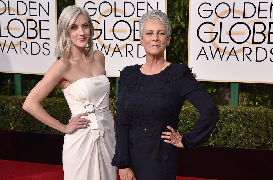Annie Guest and Jamie Lee Curtis Golden Globe Awar