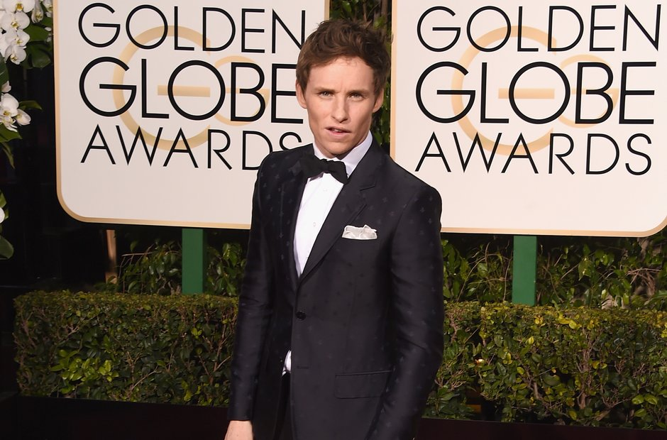 Eddie Redmayne at the Golden Globe Awards