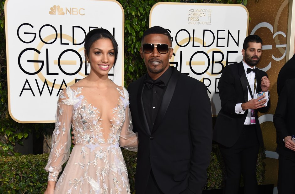 Jamie Foxx and Daughter Corinne Foxx Golden Globe