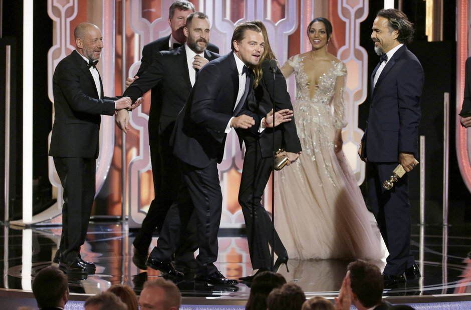 Leonardo DiCaprio at the Golden Globe Awards