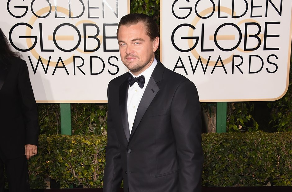 Leonardo DiCaprio arrives at the Golden Globe 2016