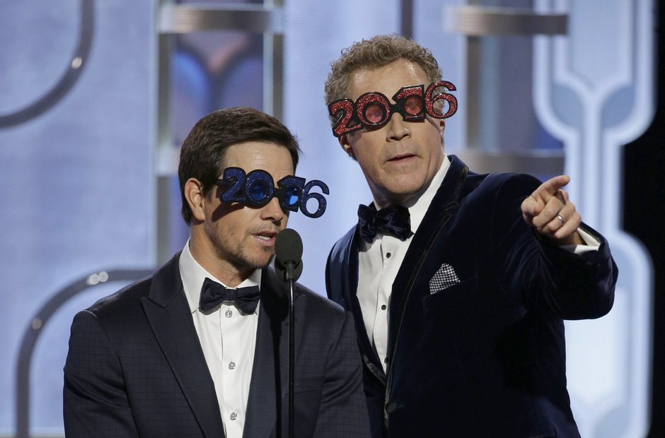 Mark Wahlberg and Will Ferrell at the Golden Globe