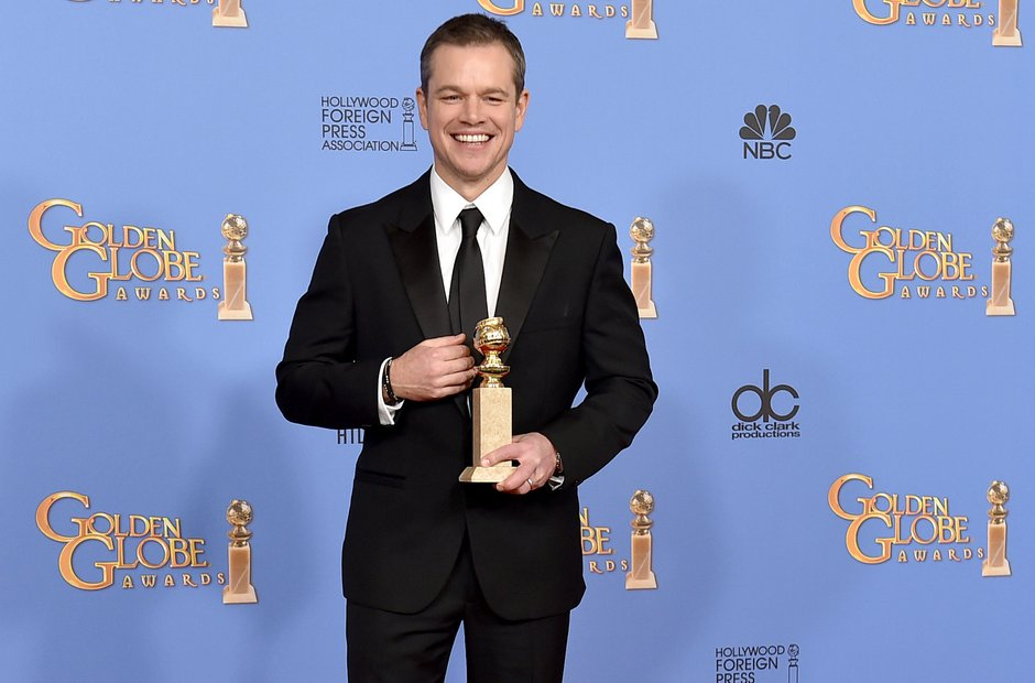 Matt Damon Golden Globe Awards 2016