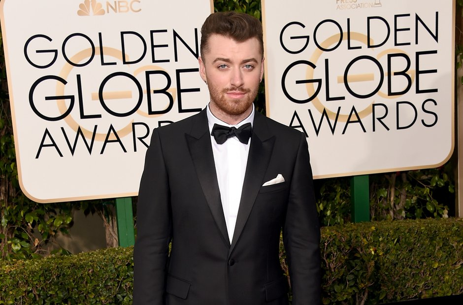 Sam Smith at the Golden Globe Awards 2016