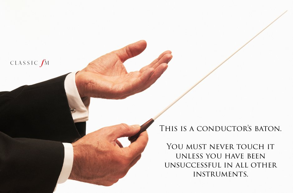 conductor's baton Musical instruments explained: a