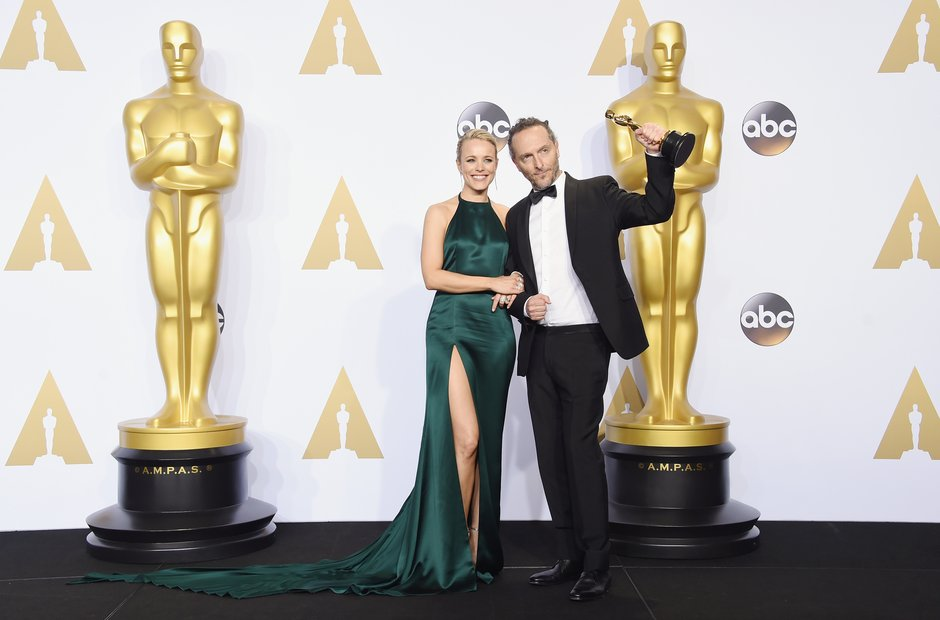 Rachel McAdams and cinematographer Emmanuel Lubezk