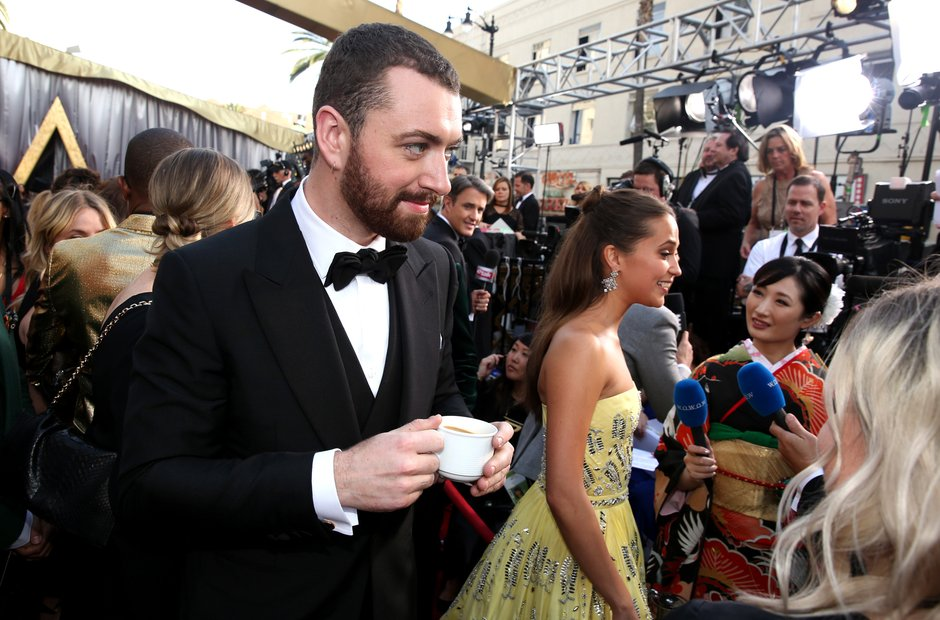 Sam Smith at the Oscars 2016