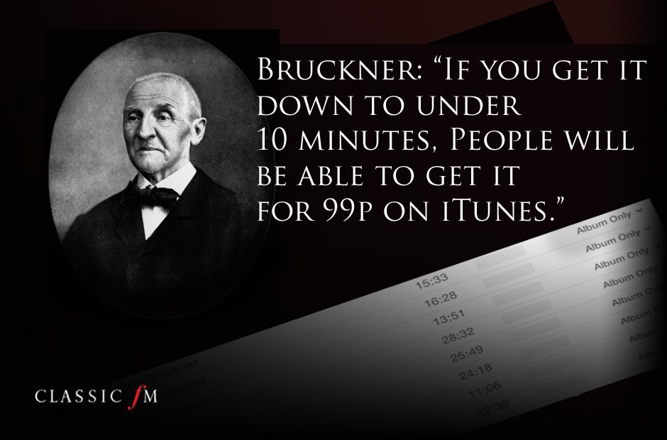 Great composers advice Bruckner