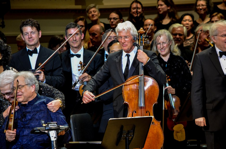 Carnegie Hall 125 birthday gala Richard Gere Itzhak Perlman