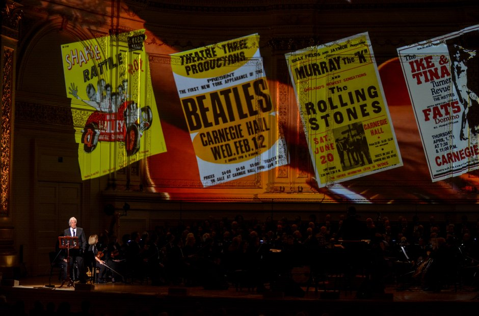 Carnegie Hall 125 birthday gala sixties Beatles Rolling Stones