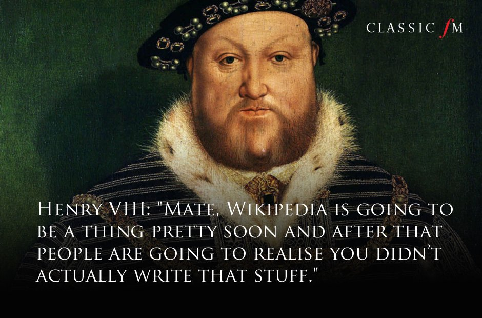 Great composers advice Henry VIII